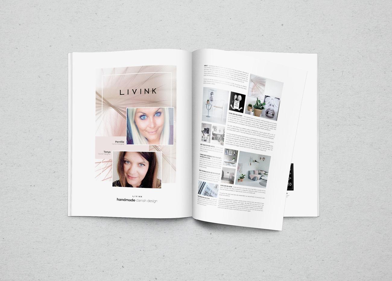 LIVINK ApS - brovaerk layouter artikel til designbog